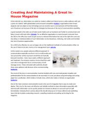 Creating and Maintaining a Great In-House Magazine.docx