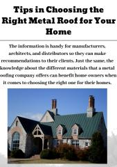 Tips in Choosing the Right Metal Roof for Your Home.pdf