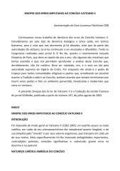 Sinopse dos erros imputados ao Concílio Vaticano II.pdf