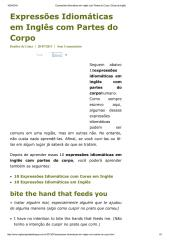 Expressões Idiomáticas em Inglês com Partes do Corpo _ Dicas de Inglês.pdf