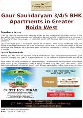 Gaur Saundaryam 3-4-5 BHK Apartments in Greater Noida West.docx