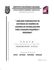 260_ANALISIS COMPARATIVO DE CRITERIOS E DISENOS DE LAGUNAS DE ESTABILIZACION PARA CIUDADES PEQUENAS Y MEDIANAS.pdf