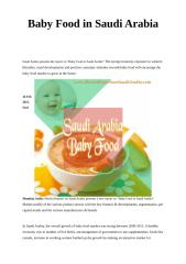 Baby Food in Saudi Arabia.doc