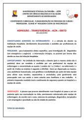 ROTEIRO ADMISSÃO E ALTA.docx