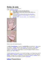 Dedos das Mãos Quirodáctilos.doc