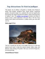 Top Attractions To Visit In Jodhpur.pdf