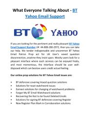 Get Assistance of yahoo email issue with BT Yahoo Support UK 44-808-280-2972 .pdf