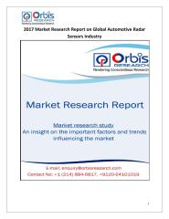 2017 Market Research Report on Global Automotive Radar Sensors Industry.pdf