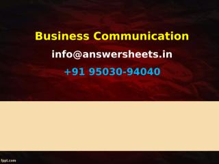 Effective communication is critical to any organization and can help it in many ways..ppt