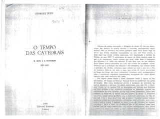 o tempo das catedrais - georges duby.pdf