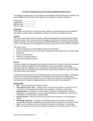 System Database and Application Admin policy.doc