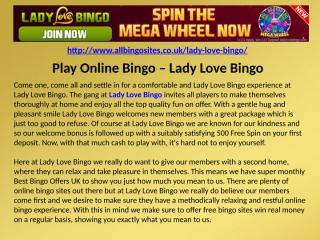 Play Online Bingo – Lady Love Bingo.pptx