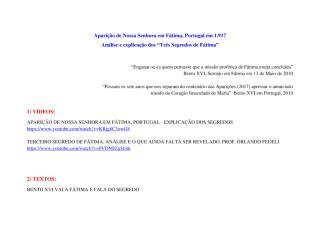 Os Três Segredos de Fátima - Análise e Explicação - Atualização 1.pdf