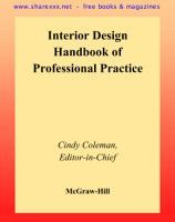 [Architecture Ebook] Interior Design Handbook of Professional Practice.pdf