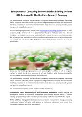 Environmental consulting services Global Market Briefing 2016.pdf