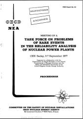 ANALYSIS OF RARE EVENTS IN RELIABILITY ANALYSIS OF NUCLEAR POWERPLANTS (CSNI77-23) (1977).pdf