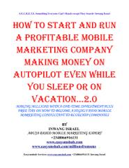 How to start A successful million dollar mobile marketing and shortcode company globally.pdf
