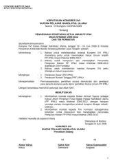 4b_KEPUTUSAN KONGRES XVI PENGESAHAN KETUM & FORMATUR.doc